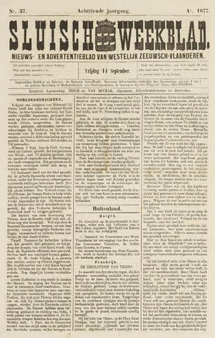 Sluisch Weekblad. Nieuws- en advertentieblad voor Westelijk Zeeuwsch-Vlaanderen 1877-09-14