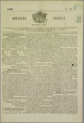 Goessche Courant 1850-04-01