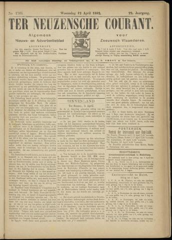 Ter Neuzensche Courant. Algemeen Nieuws- en Advertentieblad voor Zeeuwsch-Vlaanderen / Neuzensche Courant ... (idem) / (Algemeen) nieuws en advertentieblad voor Zeeuwsch-Vlaanderen 1882-04-12
