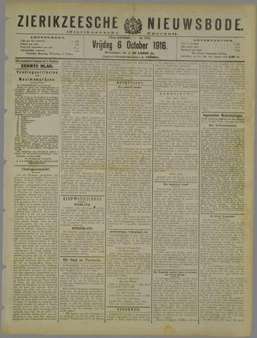 Zierikzeesche Nieuwsbode 1916-10-06