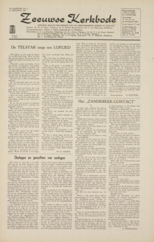 Zeeuwsche kerkbode, weekblad gewijd aan de belangen der gereformeerde kerken/ Zeeuwsch kerkblad 1964-08-14