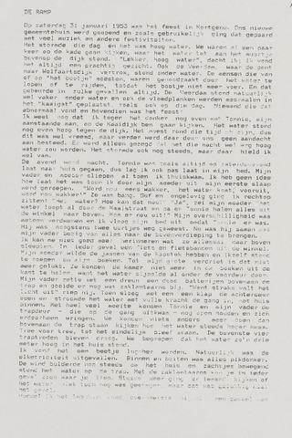 Watersnood documentatie 1953 - diversen 1991