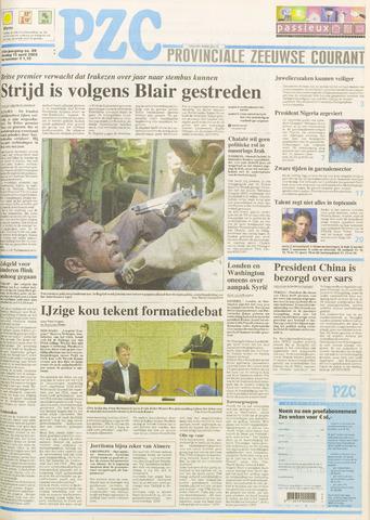Provinciale Zeeuwse Courant 2003-04-15