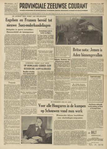 Provinciale Zeeuwse Courant 1957-01-09