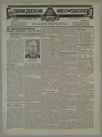 Zierikzeesche Nieuwsbode 1940-09-28