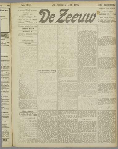 De Zeeuw. Christelijk-historisch nieuwsblad voor Zeeland 1917-07-07