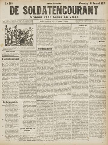 De Soldatencourant. Orgaan voor Leger en Vloot 1917-01-31
