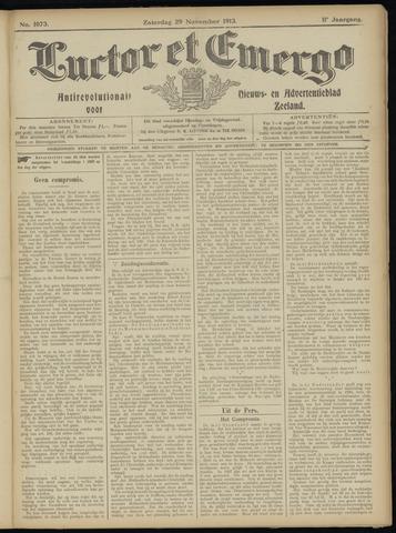 Luctor et Emergo. Antirevolutionair nieuws- en advertentieblad voor Zeeland / Zeeuwsch-Vlaanderen. Orgaan ter verspreiding van de christelijke beginselen in Zeeuwsch-Vlaanderen 1913-11-29