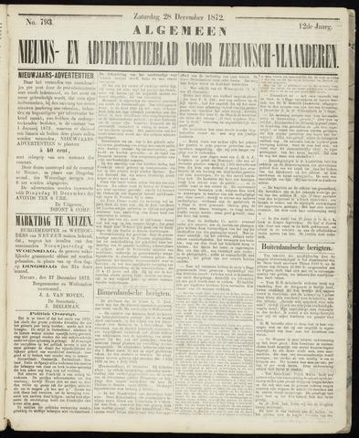 Ter Neuzensche Courant. Algemeen Nieuws- en Advertentieblad voor Zeeuwsch-Vlaanderen / Neuzensche Courant ... (idem) / (Algemeen) nieuws en advertentieblad voor Zeeuwsch-Vlaanderen 1872-12-28