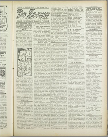 De Zeeuw. Christelijk-historisch nieuwsblad voor Zeeland 1944-01-21