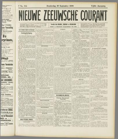 Nieuwe Zeeuwsche Courant 1909-09-30