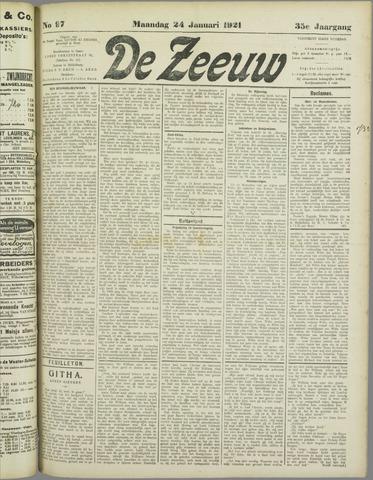 De Zeeuw. Christelijk-historisch nieuwsblad voor Zeeland 1921-01-24