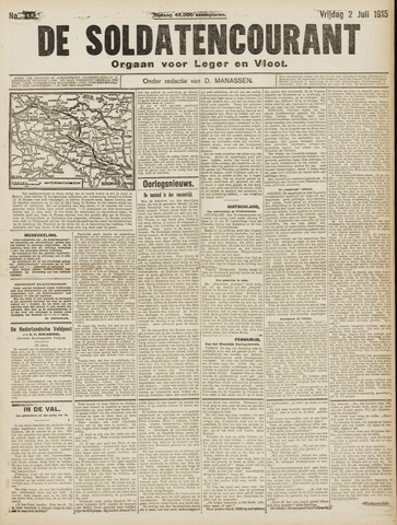 De Soldatencourant. Orgaan voor Leger en Vloot 1915-07-02