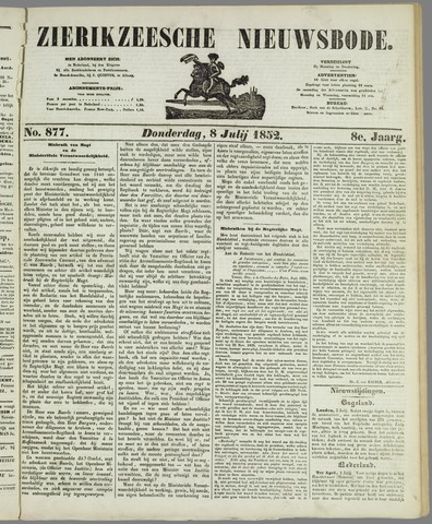 Zierikzeesche Nieuwsbode 1852-07-08