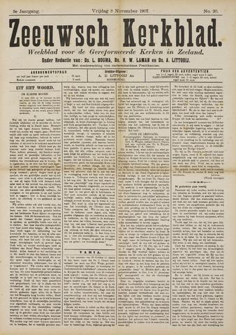 Zeeuwsche kerkbode, weekblad gewijd aan de belangen der gereformeerde kerken/ Zeeuwsch kerkblad 1907-11-08