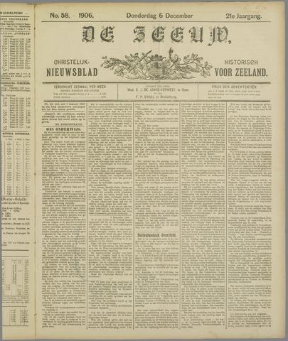 De Zeeuw. Christelijk-historisch nieuwsblad voor Zeeland 1906-12-06
