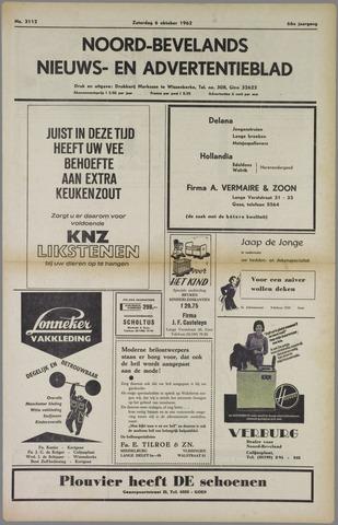 Noord-Bevelands Nieuws- en advertentieblad 1962-10-06