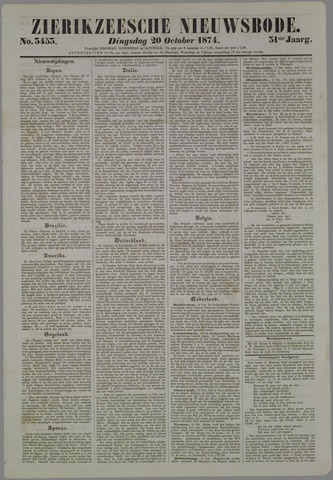 Zierikzeesche Nieuwsbode 1874-10-20