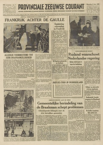 Provinciale Zeeuwse Courant 1961-01-09