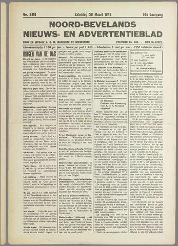 Noord-Bevelands Nieuws- en advertentieblad 1949-03-26