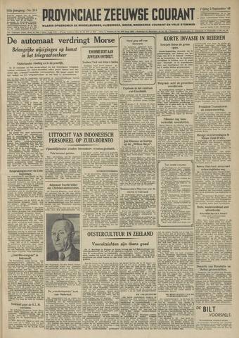 Provinciale Zeeuwse Courant 1949-09-02