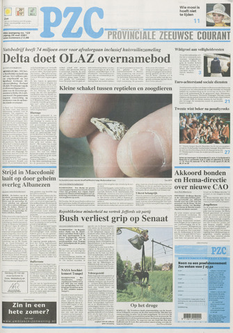Provinciale Zeeuwse Courant 2001-05-25