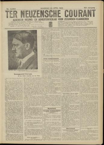 Ter Neuzensche Courant. Algemeen Nieuws- en Advertentieblad voor Zeeuwsch-Vlaanderen / Neuzensche Courant ... (idem) / (Algemeen) nieuws en advertentieblad voor Zeeuwsch-Vlaanderen 1942-04-20