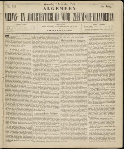 Ter Neuzensche Courant. Algemeen Nieuws- en Advertentieblad voor Zeeuwsch-Vlaanderen / Neuzensche Courant ... (idem) / (Algemeen) nieuws en advertentieblad voor Zeeuwsch-Vlaanderen 1870-09-07