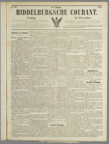 Middelburgsche Courant 1908-11-27
