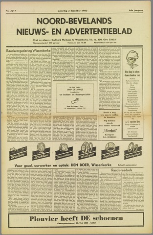 Noord-Bevelands Nieuws- en advertentieblad 1960-12-03