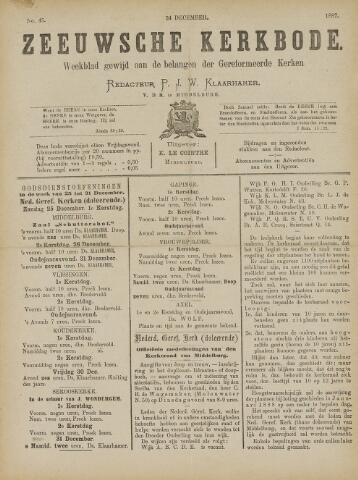 Zeeuwsche kerkbode, weekblad gewijd aan de belangen der gereformeerde kerken/ Zeeuwsch kerkblad 1887-12-24