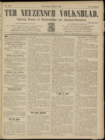Ter Neuzensch Volksblad. Vrijzinnig nieuws- en advertentieblad voor Zeeuwsch- Vlaanderen / Zeeuwsch Nieuwsblad. Nieuws- en advertentieblad voor Zeeland 1912-03-13