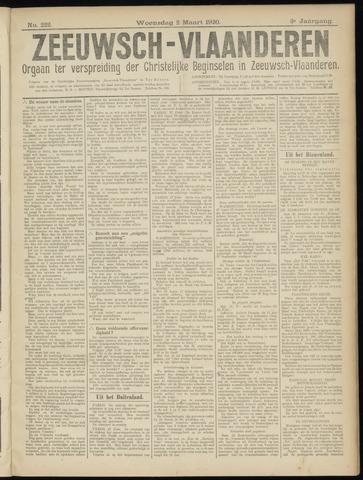 Luctor et Emergo. Antirevolutionair nieuws- en advertentieblad voor Zeeland / Zeeuwsch-Vlaanderen. Orgaan ter verspreiding van de christelijke beginselen in Zeeuwsch-Vlaanderen 1920-03-03