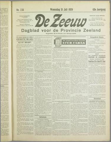 De Zeeuw. Christelijk-historisch nieuwsblad voor Zeeland 1929-07-31