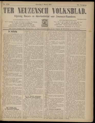 Ter Neuzensch Volksblad. Vrijzinnig nieuws- en advertentieblad voor Zeeuwsch- Vlaanderen / Zeeuwsch Nieuwsblad. Nieuws- en advertentieblad voor Zeeland 1917-03-03