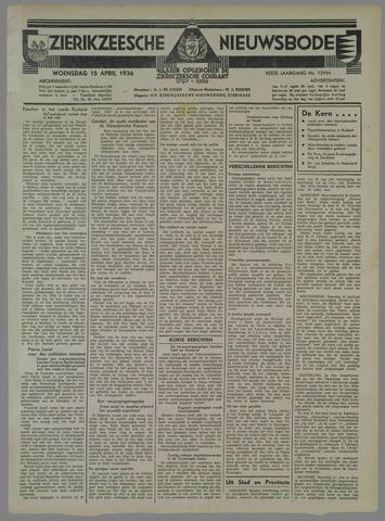 Zierikzeesche Nieuwsbode 1936-04-15