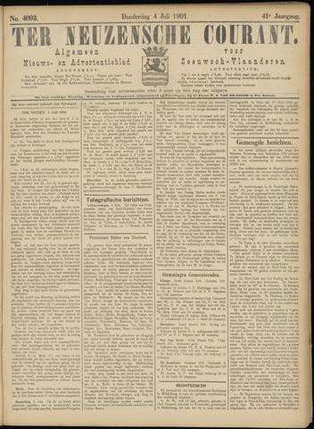 Ter Neuzensche Courant. Algemeen Nieuws- en Advertentieblad voor Zeeuwsch-Vlaanderen / Neuzensche Courant ... (idem) / (Algemeen) nieuws en advertentieblad voor Zeeuwsch-Vlaanderen 1901-07-04
