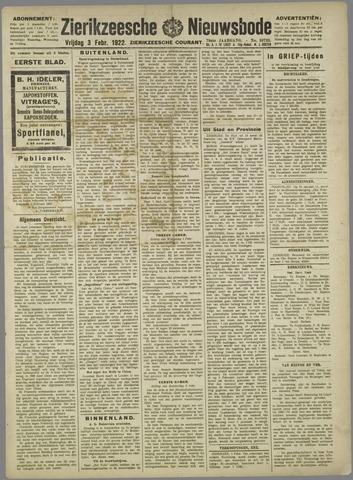 Zierikzeesche Nieuwsbode 1922-02-03