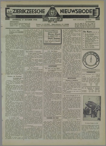 Zierikzeesche Nieuwsbode 1936-10-17