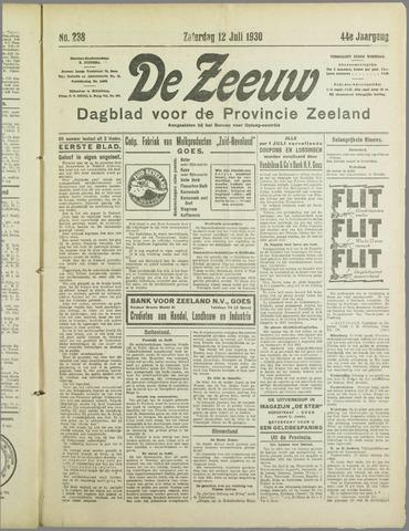 De Zeeuw. Christelijk-historisch nieuwsblad voor Zeeland 1930-07-12