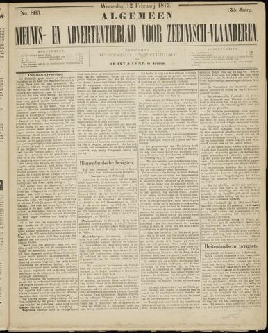Ter Neuzensche Courant. Algemeen Nieuws- en Advertentieblad voor Zeeuwsch-Vlaanderen / Neuzensche Courant ... (idem) / (Algemeen) nieuws en advertentieblad voor Zeeuwsch-Vlaanderen 1873-02-12
