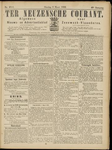 Ter Neuzensche Courant. Algemeen Nieuws- en Advertentieblad voor Zeeuwsch-Vlaanderen / Neuzensche Courant ... (idem) / (Algemeen) nieuws en advertentieblad voor Zeeuwsch-Vlaanderen 1906-03-06