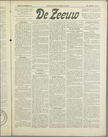 De Zeeuw. Christelijk-historisch nieuwsblad voor Zeeland 1934-11-20