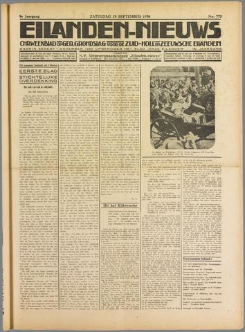 Eilanden-nieuws. Christelijk streekblad op gereformeerde grondslag 1936-09-19