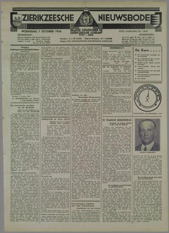Zierikzeesche Nieuwsbode 1936-10-07