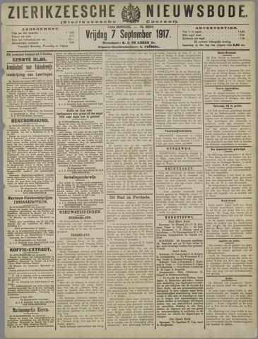 Zierikzeesche Nieuwsbode 1917-09-07