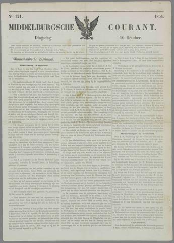 Middelburgsche Courant 1854-10-10