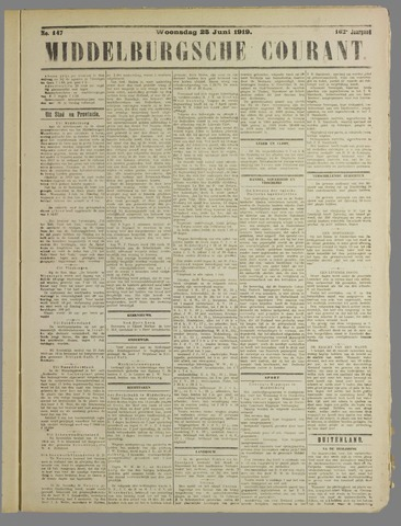 Middelburgsche Courant 1919-06-25