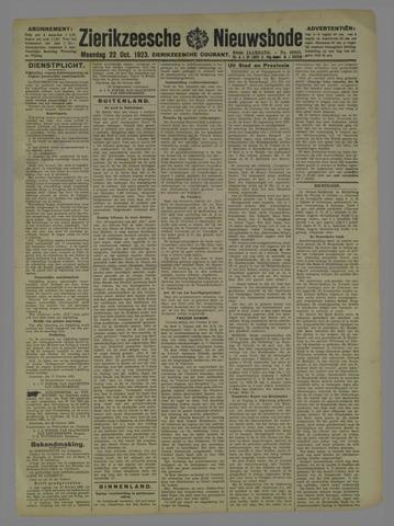 Zierikzeesche Nieuwsbode 1923-10-22
