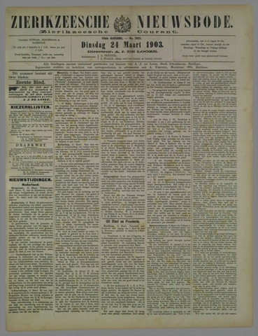 Zierikzeesche Nieuwsbode 1903-03-24